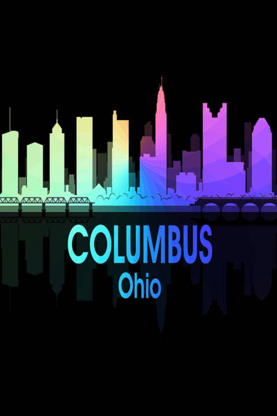 Wall Art - Digital Art - Columbus Oh 5 Vertical by Angelina Tamez