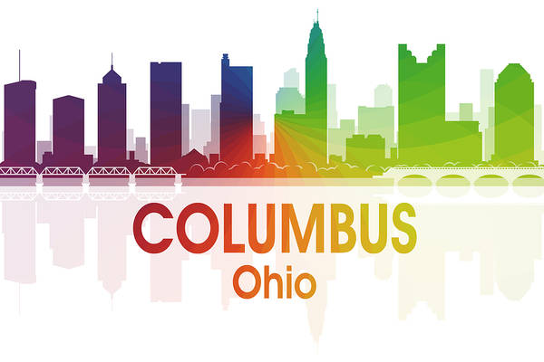 Digital Art - Columbus Oh  by Angelina Tamez
