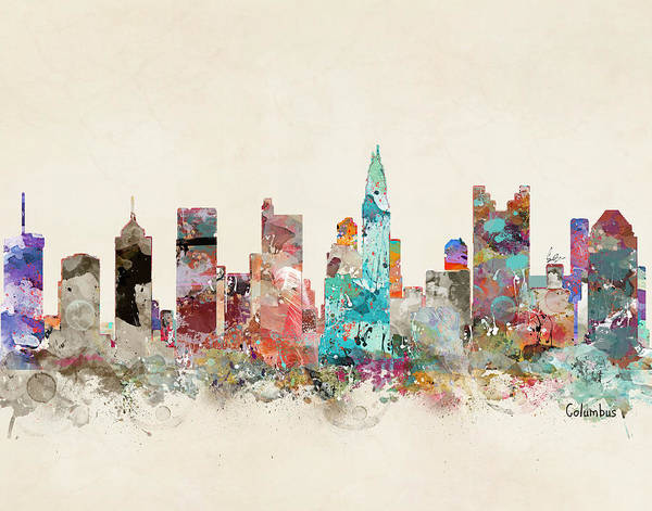 Columbus Wall Art - Painting - Columbus Ohio by Bri Buckley