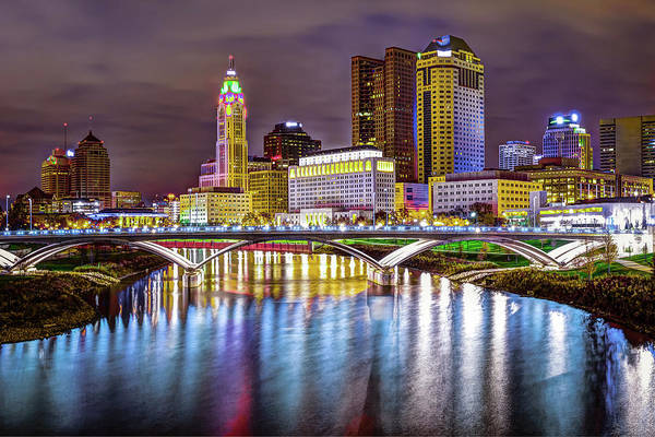 Photograph - Columbus Ohio Downtown Skyline In Color by Gregory Ballos