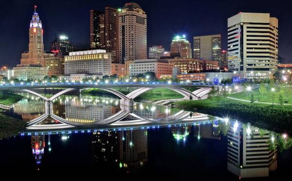 Townscape Wall Art - Photograph - Columbus Over The Scioto by Frozen in Time Fine Art Photography