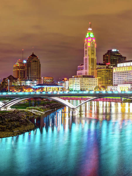 Photograph - Columbus Skyline Blue Waters by Gregory Ballos