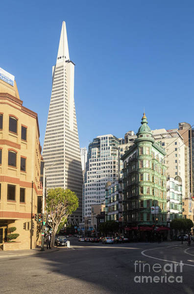 Photograph - Columbus Tower And Transamerica Pyramid In San Francisco by Didier Marti
