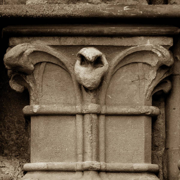 Photograph - Column Capital D West Facade Of Wells Cathedral by Jacek Wojnarowski
