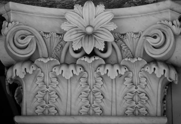 Wall Art - Photograph - Column Capital Detail 2 by Teresa Mucha