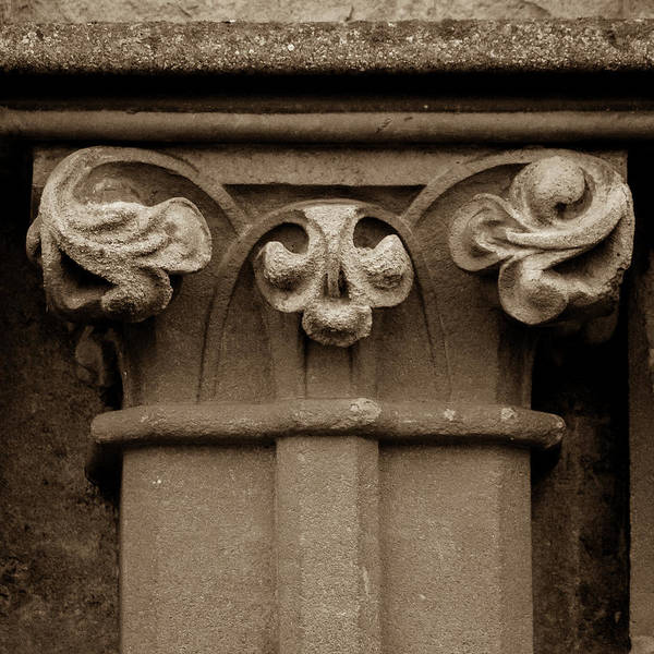 Photograph - Column Capital O West Facade Of Wells Cathedral by Jacek Wojnarowski