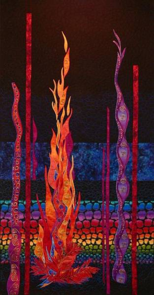 Tapestry - Textile - Column Of Fire by Pat Dolan