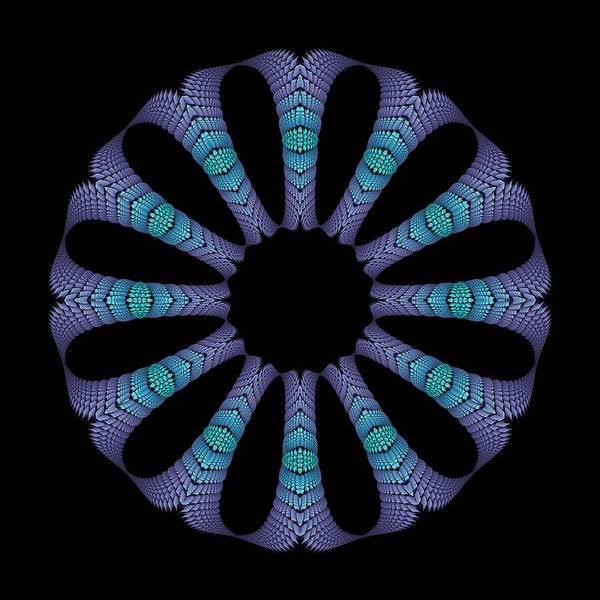 Digital Art - Columnar Circle- Blue by Doug Morgan