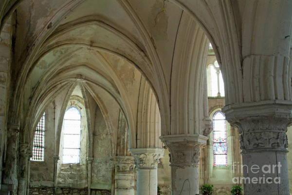 Wall Art - Photograph - Columns And Rib Vaulting Inside La Chapelle Church by Sami Sarkis