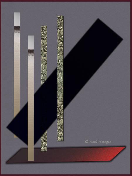 Digital Art - Columns And Spaces by Kae Cheatham