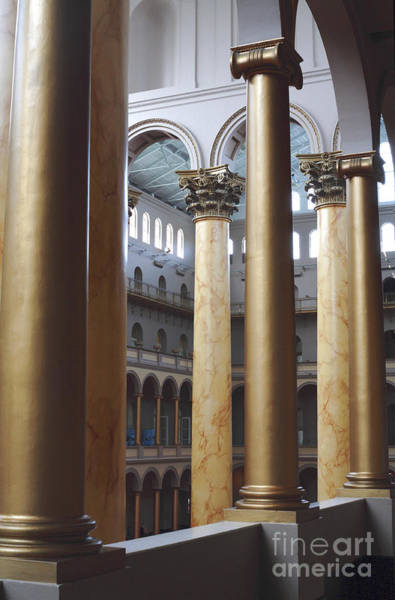 Photograph - Columns At The National Building Museum In Washington Dc by William Kuta