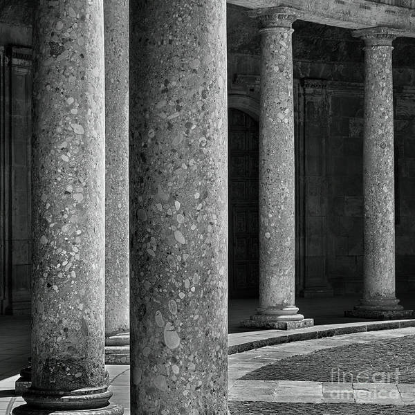 Wall Art - Photograph - Columns. Carlos V Palace In The Alhambra by Guido Montanes Castillo