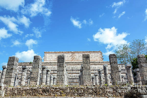 Wall Art - Photograph - Columns In Chichen Itza by Jess Kraft