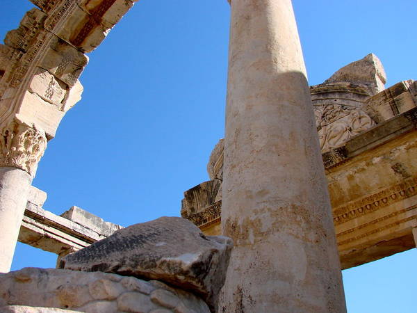 Test Of Time Photograph - Columns In Ephesus by Ilse Sears