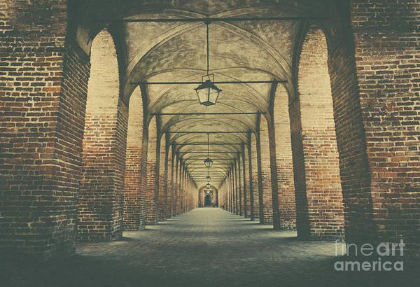 Columns In Sabbionetta, Italy Art Print