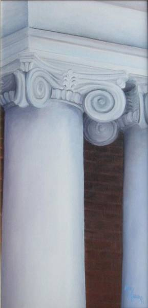 Mary Rogers Painting - Columns Of Davidson Hall by Mary Rogers