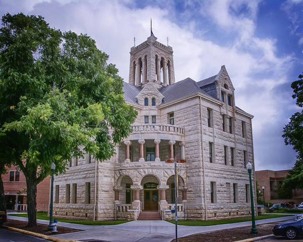 New Braunfels Photograph - Comal County Courthouse by Joan Carroll