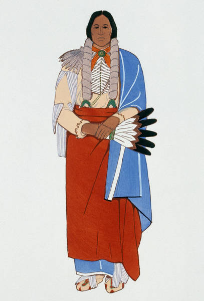 Photograph - Comanche Chief, C1880 by Granger