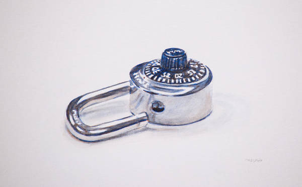 Painting - Combination Lock by Christopher Reid