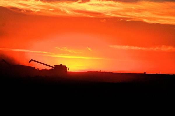 Photograph - Combine The Sunset by David Matthews