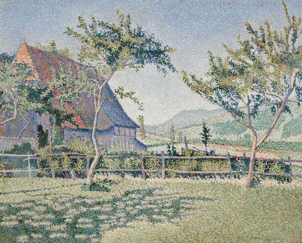 Signac Painting - Comblat-le-chateau, The Meadow by Paul Signac