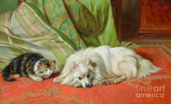 Cats And Dogs Painting - Come And Play by MotionAge Designs