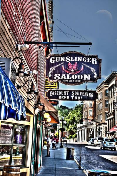 Wild Bill Hickock Photograph - Come Get A Shot At The Gunslinger Saloon by Deborah Klubertanz