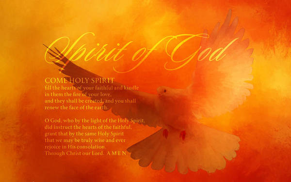 Wall Art - Digital Art - Come Holy Spirit by Terry Davis