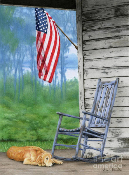 Rocking Chairs Painting - Come Home by Sarah Batalka