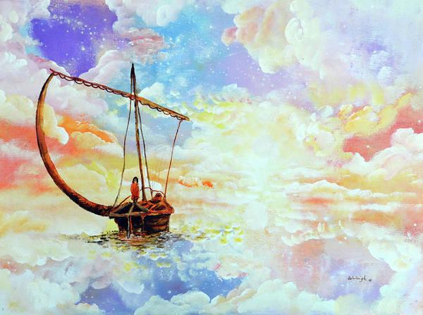Paramhansa Yogananda Painting - Come Sail Away With Me by Ashleigh Dyan Bayer