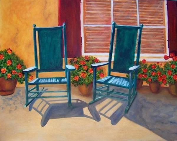 Painting - Come Sit A Spell. Sold by Susan Dehlinger