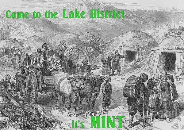 Nomad Drawing - Come To The Lake District It's Mint by Justin Farrimond