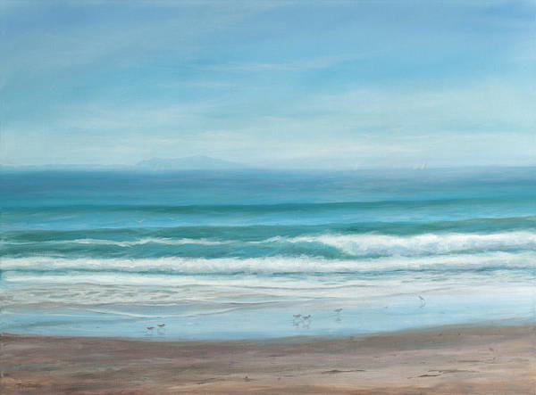 Wall Art - Painting - Come With Me To The Sea by Tina Obrien