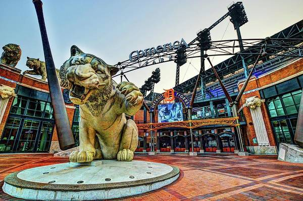 Digital Art - Comerica Park V2 Dsc_0615 by Michael Thomas