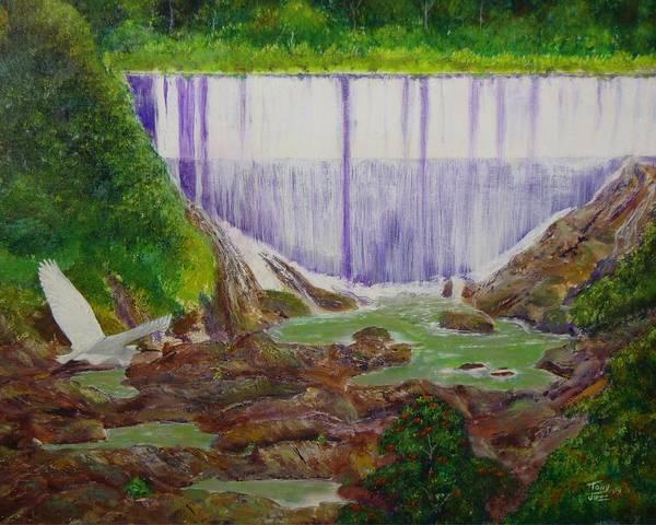 Painting - Comerio Dam by Tony Rodriguez