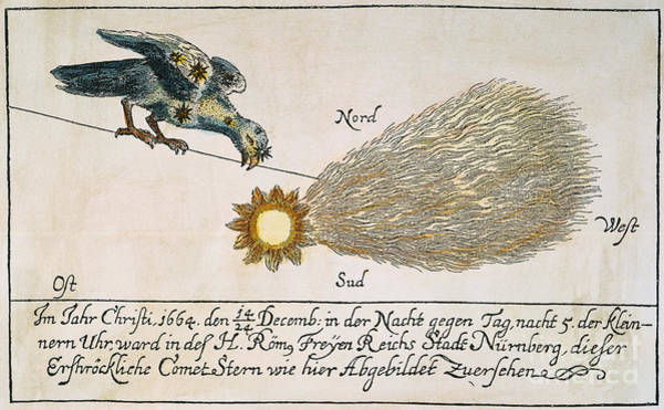 Photograph - Comet, 1664 by Granger
