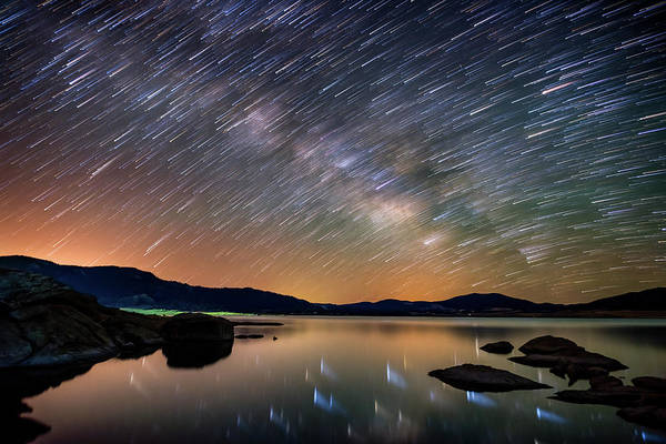 Star Trails Photograph - Comet Storm - Colorado by Darren White