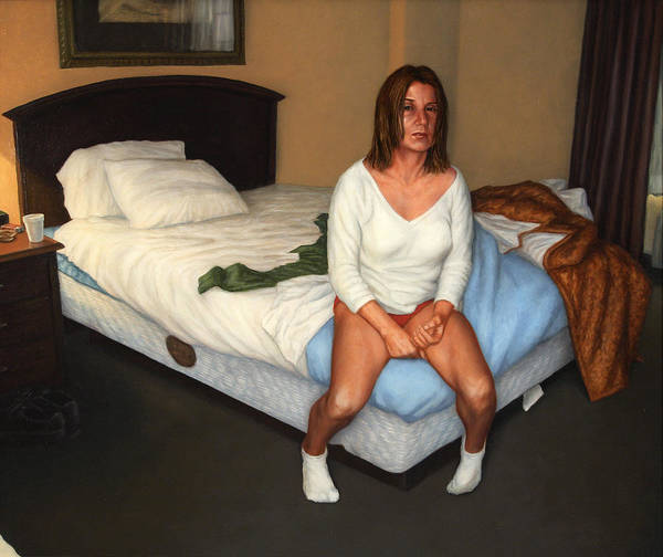 Bed Painting - Comfort Inn by James W Johnson