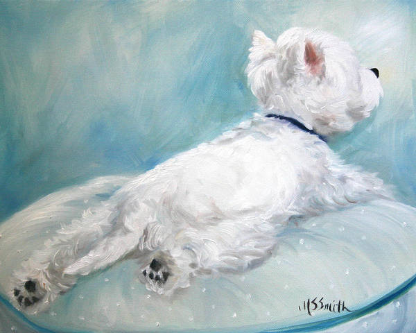 West Highland Painting - Comfort Zone by Mary Sparrow