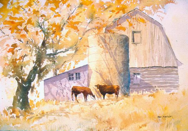 Comfortable-autumn Art Print