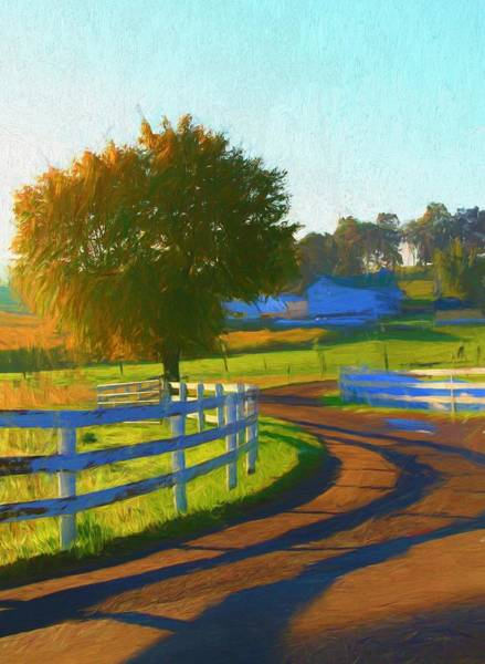 White Picket Fence Painting - Comfortable Country Morning by Dan Sproul