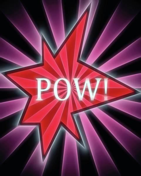 Ka-pow Digital Art - Comic Book Pow by Dan Sproul