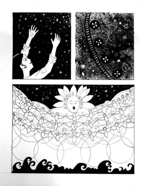 Drawing - Comic For Selah Project Psalm 104 by Anne Cameron Cutri