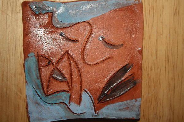Ceramic Art - Coming - Tile by Gloria Ssali