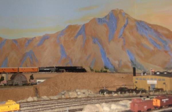 Model Trains Painting - Magnificent Train Room by Maria Hunt