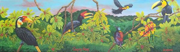 Hornbill Painting - Coming Home by Lauretta Irene