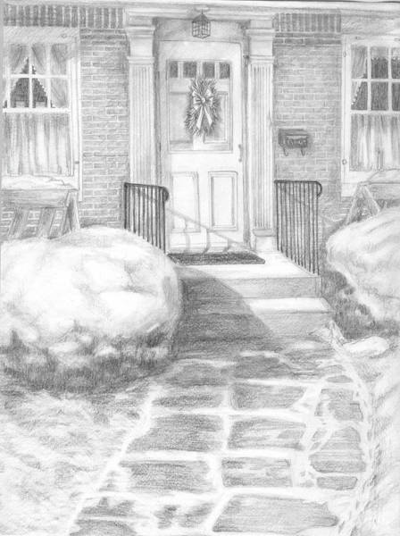 Front Porch Drawing - Coming Home by Marlene Chapin