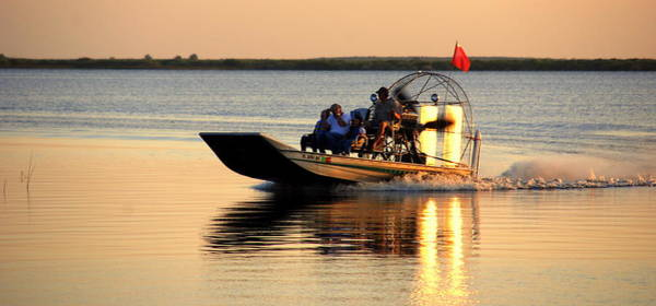 Airboat Photograph - Coming Home by Susanne Van Hulst
