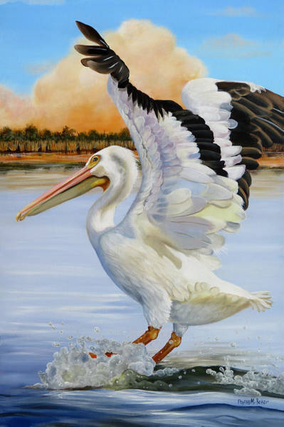 Wall Art - Painting - Coming In For A Landing by Phyllis Beiser