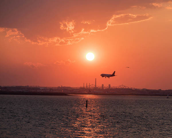 Photograph - Coming In For A Landing To Logan Airport From Winthrop Ma by Toby McGuire